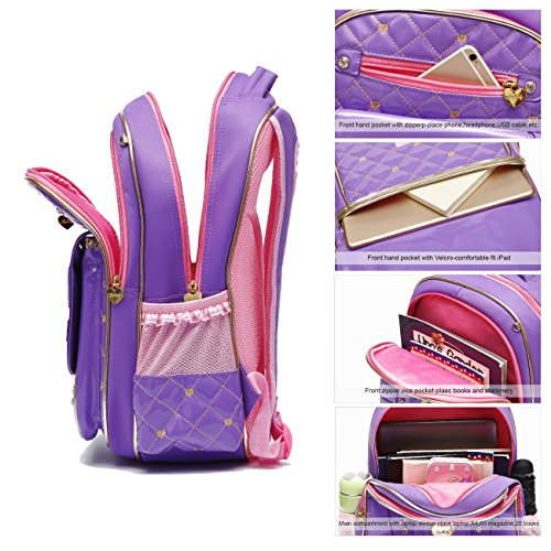 Schoolgirls Small Purple for Doll Elementary Backpack Adorable Series Victory Bookbag School Barbie Black Ali Princess qwHxBP6zO