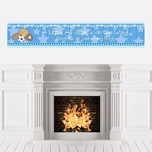 Big Dot of Happiness All Star Sports - Boy Baby Shower Decorations Party Banner