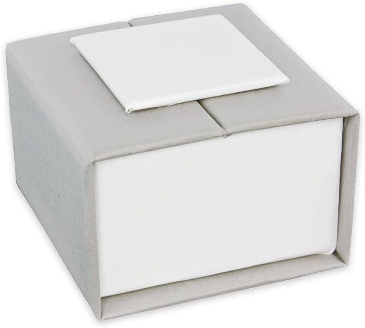 Caja imantada para anillo 5x5x3,5 cm Gris/Blanco x1: Amazon.es ...