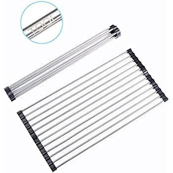 Amazon.com: Roll Dish Drying Rack Stainless Steel- Over