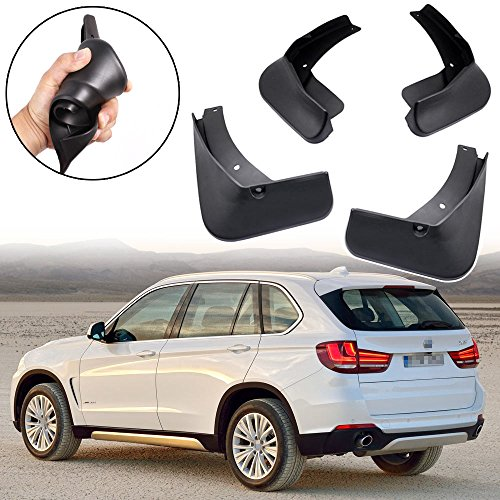 Bmw Splash Guard - SPEEDLONG 4Pcs Car Mud Flaps Splash Guards Fender Mudguard for BMW X5 2014 2015 2016 2017 2018 (Model w/o Running Boards)