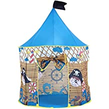 Pericross Kids Playhouse Polyester Fabric Play Tents (Blue Pirate)
