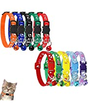Cat Collars Breakaway with Bell, 10PCS Colorful Adjustable Kitten Collar for Cat and Puppy