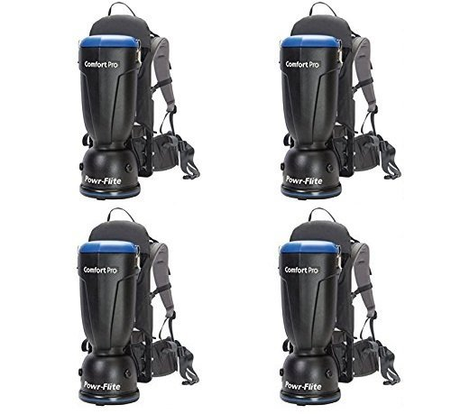 Powr-Flite BP6S Comfort Pro Backpack Vacuum, 6 quart Capacity (Pack of 4)