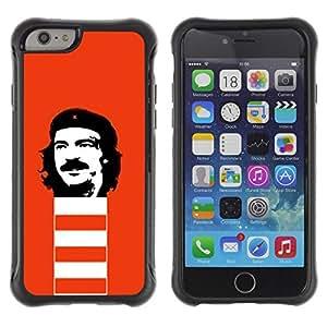 Suave TPU GEL Carcasa Funda Silicona Blando Estuche Caso de protección (para) Apple Iphone 6 / CECELL Phone case / / Funny Rebel Face /