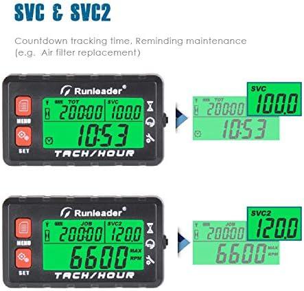 Runleader-Betriebsstundenz/ähler-Drehzahlmesser Batterie austauschbar Anfangsstunden einstellbar HM058B-BU Verwendung f/ür Rasenm/ähergenerator und gasbetriebene Ger/äte Wartungserinnerung