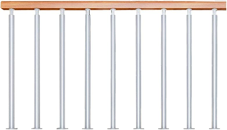 QDY-Pasamanos Barandilla de Escalera de Madera con Columna de pie de Hierro Blanco, Barandilla de decoración Antideslizante para escaleras del ático del Pasillo, Combinación Libre: Amazon.es: Hogar
