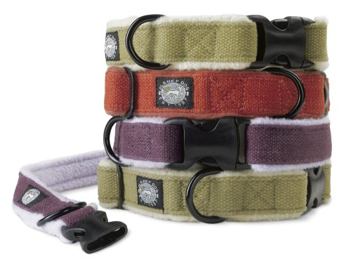 Planet Dog Cozy Hemp Adjustable Collar, Purple, Small