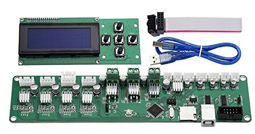 Steuerplatine Melzi PCB Karte ATMEGA 1284P P802M Hauptplatine X3A Hauptplatine XY-100 Controller mit 2004 LCD fü r Tronxy 3D-Drucker HANDOO