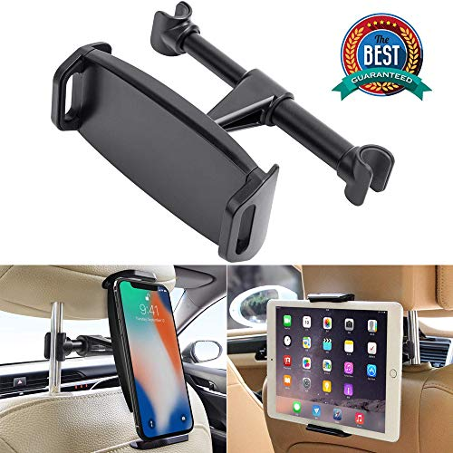 Car Headrest Mount, YUNSONG 360° Rotating Universal Tablet Holder Sedan Backseat Seat Mount for Phone 4.7