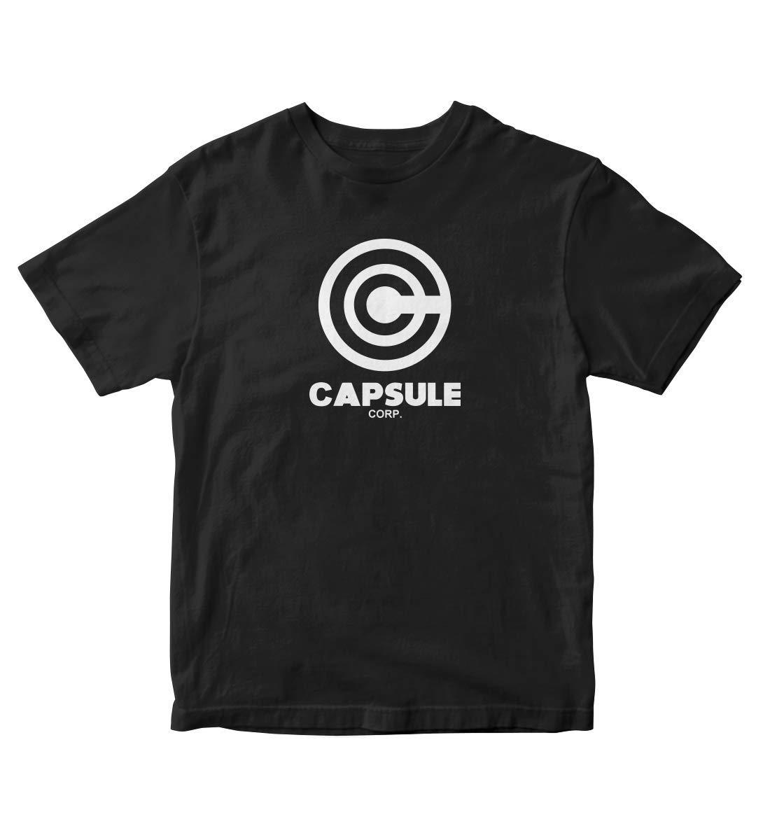 Tjsports Capsule Corp Dbgt S Shirt Black Manga Anime A251