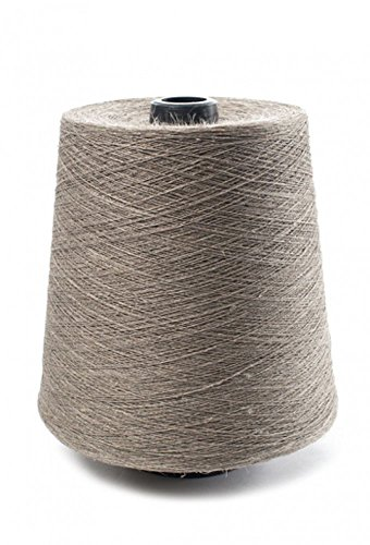 100% Linen Lace Yarn Black White Natural 1lb Cone 3-ply Flax (Natural) (Pound One Black Yarn)