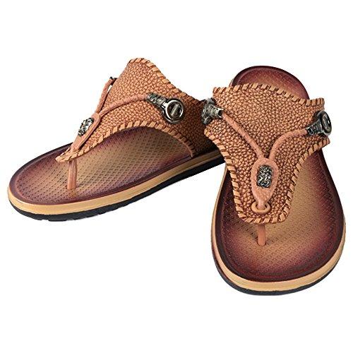 Eastlion Shoes Men's Summer Slippers Beach Sandals Flops Thongs Flip Black RASR1qw
