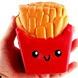 Missley Squishy Fries Cute French Fries Cream Stress Reliever 11CM Squishy Slow Rising Squeeze Toy For Kids and Adults