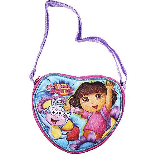 Nickelodeon Dora the Explorer Side Purse Full Glitter for Little Girls