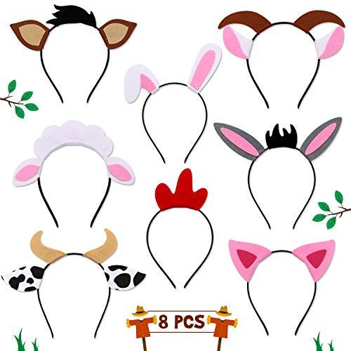 Animal Headbands Costumes Hats - Farm Animals Headbands Barnyard Animals Ear