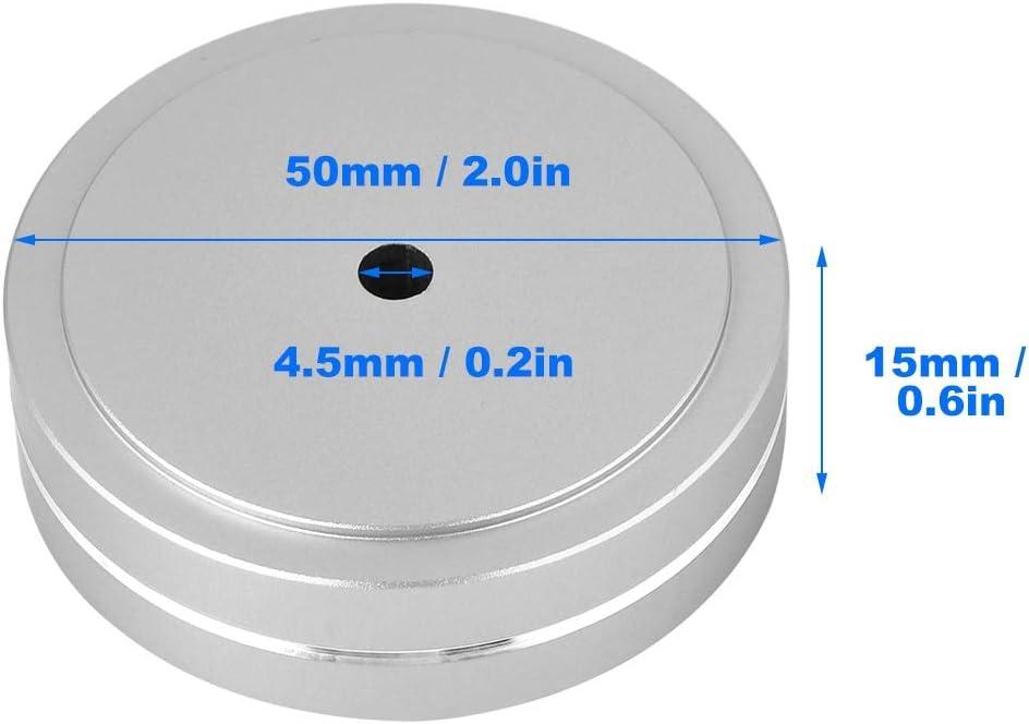 Aluminum Alloy Cone Pad Isolation Base Feet Pads for Audio HiFi Speaker ASHATA Speaker Isolation Feet Pad Stand Gold