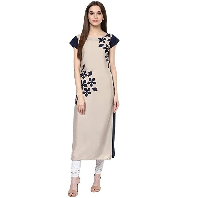 New Ethnic 4 You Women's Crepe Kurti Women's Kurtas & Kurtis at amazon