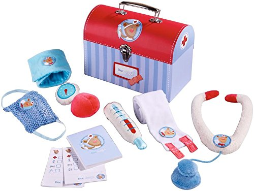 [Doc HABA Little Doctor Set - 6 Piece Set in Sturdy Carrying Case for Ages 2 and Up] (Doctor Costumes For Toddlers)