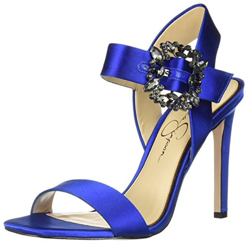 Jessica Simpson Women's Bindy Heeled Sandal, Blue Iris, 7 Medium US (Jessica Simpson Sandal Blue Womens)