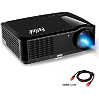 Portable Video Projector Full HD Home Cinema Projectors Native 720P High Deff Support 1080P 2500 Lumens 200 Screen for iPhone/ Laptop/ PS4/ TV With HDMI/VGA 2Speaker Built-In Home Theater Projector