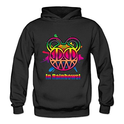 Geheimnis Gross Women's In Rainbowsl Radiohead 3 Hoodies Sweatshirt Size L US Black