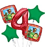 Wonder Pets Balloon Bouquet 4th Birthday 5 pcs - Party Supplies