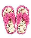 Booty Sleep Spa Flip Flop Fuzzy Slippers by LazyOne | Cute Design Fuzzy Thong Slippers (S/M)