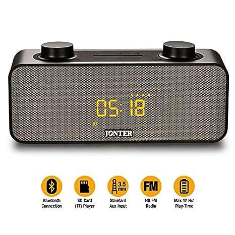 76a06f2ca59 RADIO RELOGIO BLUETOOTH CAIXA DE SOM PORTATIL EXTREME 10W DESPERTADOR USB  SD FM E AUXILIAR JONTER