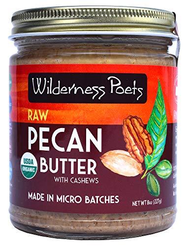 Wilderness Poets Organic Raw Pecan Butter, 8 Ounce (227 Gram) ()