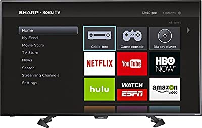 "Sharp 50"" LED 1080p Smart HDTV Roku TV"