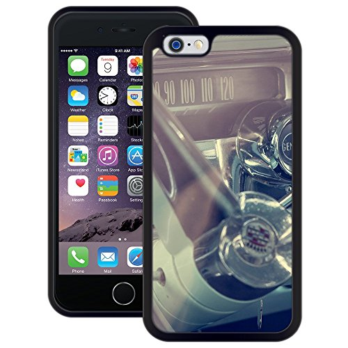 Cadillac Oldtimer | Handgefertigt | iPhone 6 6s (4,7') | Schwarze Hülle