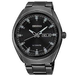 Seiko Men's SNKN43 Analog Display Automatic Self-Wind Black Watch