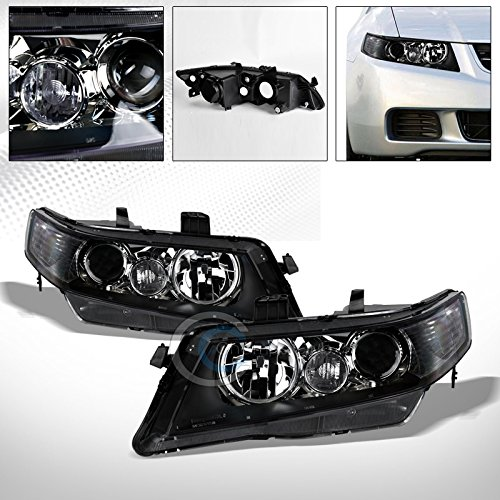 R&L Racing Black Crystal Projector Head Lights Corner Signal Lamps NB 2003-2008 for Acura Tsx Cl9 ()