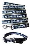 New York Yankees Nylon Collar and Matching Leash for Pets (MLB Official by Pets First) Size Medium