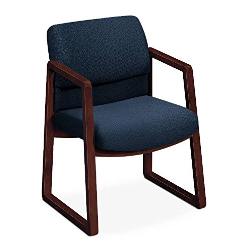 2400 Series Laptop - HON 2403NAB90 2400 Series Guest Arm Chair, Mahogany Finish, Blue Fabric