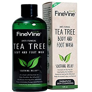 Antifungal Tea Tree Oil Body Wash - Made in USA - Helps Treat Eczema, Ringworm, Body Odor, Jock Itch, Acne, Toenail Fungus & Athlete Foot - Best Antibacterial Soap For Skin Irritations.