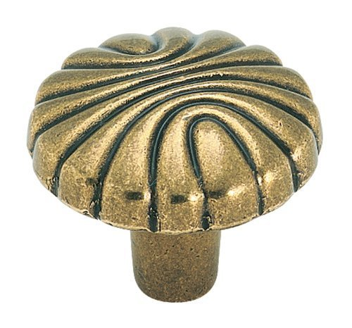 Amerock BP1337O77 Natural Elegance Round Knob, Burnished Brass, 1-7/32-Inch by Amerock
