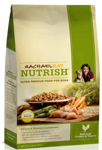 Rachael Ray Nutrish Dry Dog Food,  Chicken and Vegetable Recipe, 6-Pound Bag, My Pet Supplies