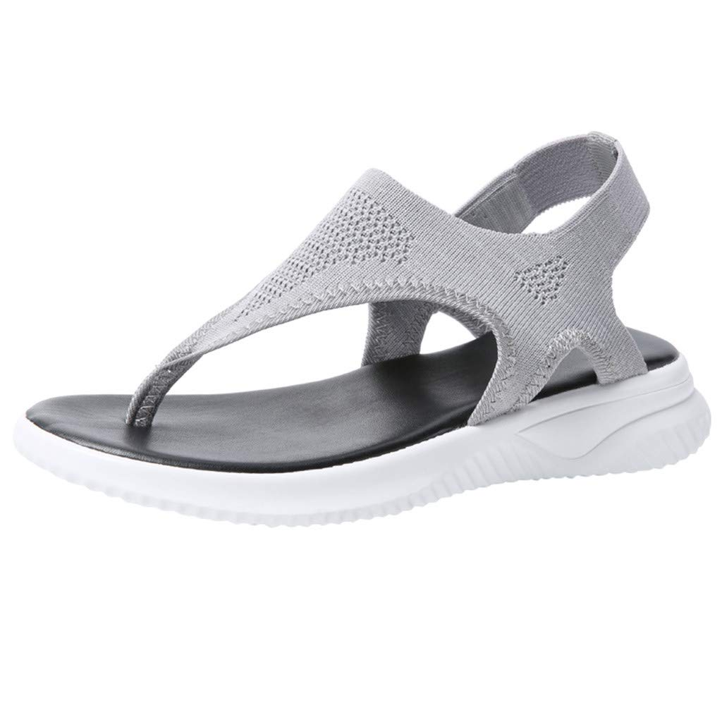 Women Thick Summer Flip Flop Shoes Clearance Sale, NDGDA Ladies Platform Roman Casual Flock Sandals by NDGDA Women Sandals (Image #1)