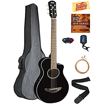 yamaha apxt2 3 4 size acoustic electric guitar black bundle with gig bag tuner. Black Bedroom Furniture Sets. Home Design Ideas