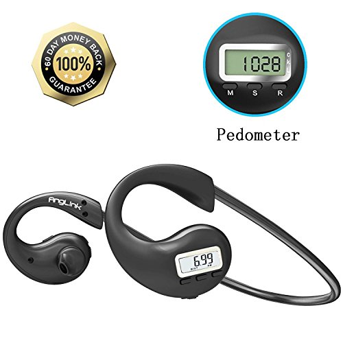 Bluetooth Headphones Wireless Sweatproof Pedometer