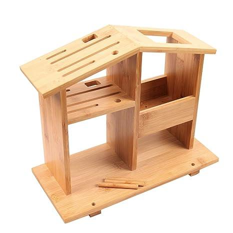 MLQ Portacuchillas de Madera de bambú Multifuncional Soporte ...