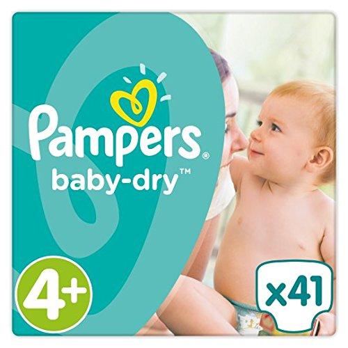 Pampers Baby Dry Pañales Tamaño 4+ Esencial Pack de 41 Brand Pampers