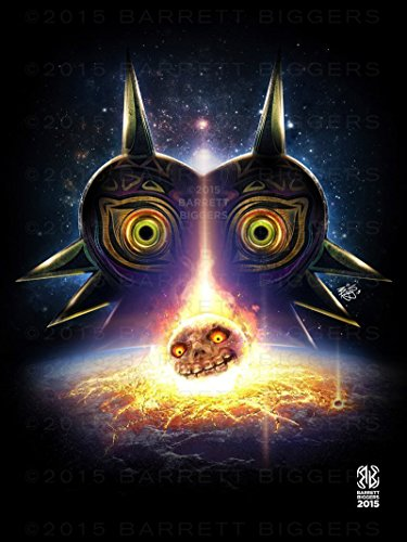 Inspired Majora's Mask Moon Fall Game Movie Poster Archival Giclèe Print ()