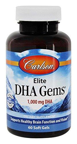 Carlson Laboratories Elite DHA Gems, 60 Count
