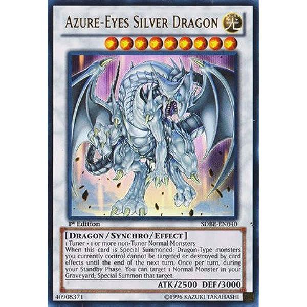 SDBE-EN040 YUGIOH 3x AZURE-EYES SILVER DRAGON