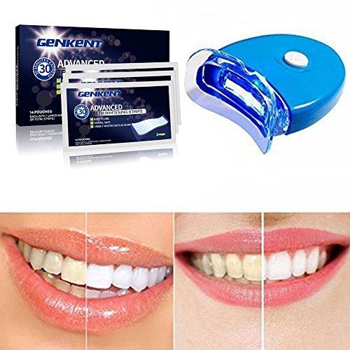 Genkent Teeth Whitening Kit Advanced Teeth Whitening Strips and Tooth Light Whitening Accelerator