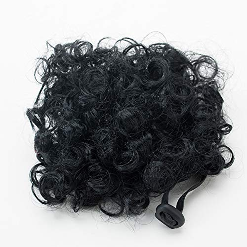 USDREAM Pet Costume Afro Curly Wig for Dogs Cats Puppy (Black)]()