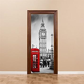 Yanqiao Britische Big Ben Telefonzelle Tur Aufkleber Aufkleber Einer